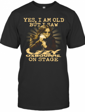 Yes Ozzy Osbourne On Stage T-Shirt