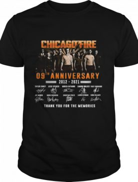 chicago fire 09th anniversary 2012 2021 signatures thank shirt