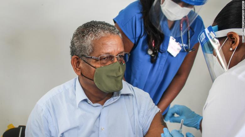 The Seychelles is 60% vaccinated but still infections are rising. That's not as bad as it sounds