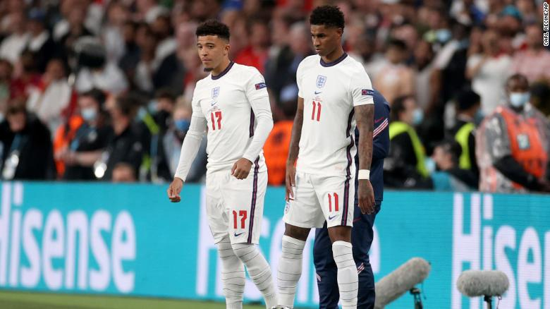 Racist abuse directed at England players after Euro 2020 final defeat is described as 'unforgivable' by manager Gareth Southgate