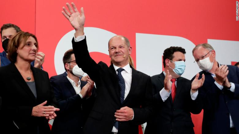 SPD narrowly wins German election against Merkel's CDU but uncertainty remains over next leader