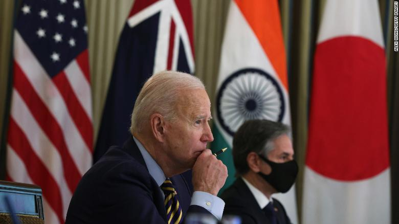 US-China policy: Biden is bringing together Japan Australia and India to stare down China